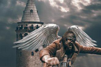 Galata'dan Üsküdar'a Uçan Hezarfen Ahmed Çelebi!