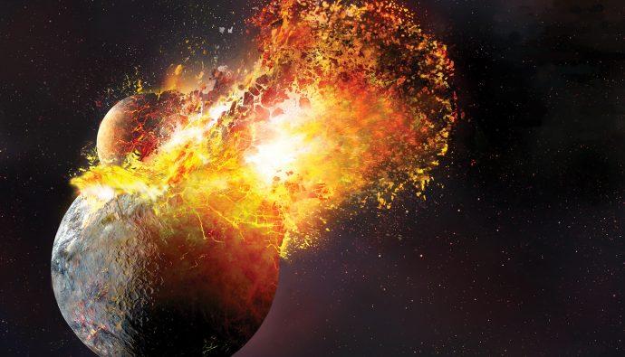 Ay Nasıl Oluştu? Theia Gezegeni ve Büyük Çarpışma!